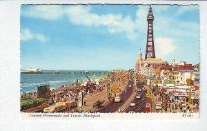 P1318 valentines postcard unused colorful view promenade tower blackpool britain