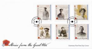 Stories From The Great War WW1 Guernsey Stamp Frank First Day Cover