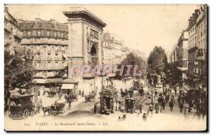 Old Postcard Paris Boulevard Saint Denis