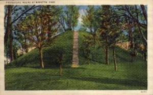 Prehistoric Mound Marietta OH 1943