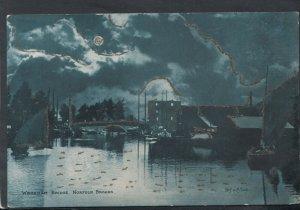 Norfolk Postcard - Wroxham Bridge, Norfolk Broads   T9057