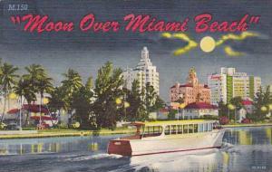 Moon over Miami Beach Florida, PU-30-40s