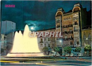 Postcard Modern Logrono Luminous Fountain of the Marquis de Murrieta