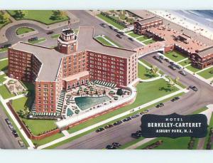 Unused 1950's BERKELEY - CARTERET HOTEL Asbury Park New Jersey NJ Q5508-13
