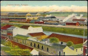 mexico, TAMPICO, Customs House, Steam Train (1915)