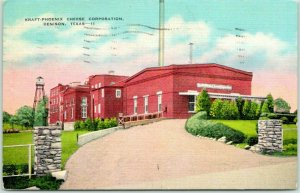 Vintage Denison, Texas Postcard KRAFT-PHOENIX CHEESE CORP. Linen / 1939 Cancel