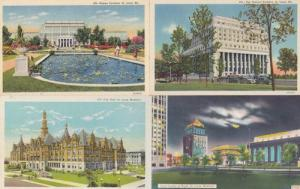 St Louis Missouri Civic Centre At Night City Hall Federal Building 4x Postcard s