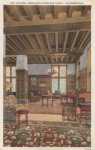 PHILADELPHIA , Pennsylvania , 1910s ; Lounge , Benjamin Franklin Hotel