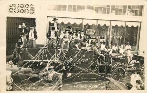 Carnival Panama Real Photo Postcard. Decorated Truck Full Of People
