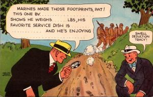 Comics Dick Tacy Marines Made Those Footprints