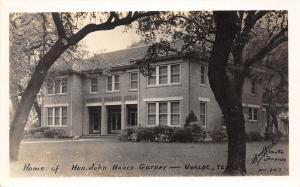 D35/ Uvalde Texas Tx Real Photo RPPC Postcard 1940 John Nance Garner Home
