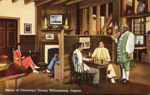 Virginia Williamsburg Chowning's Tavern Interior Curteich
