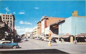 Autos Colorado Springs Colorado Tejon Colorado Avenue 1950s Postcard Noble 11607