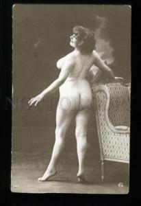 135533 NUDE Woman Plump BELLE Vintage Real PHOTO GA #104 PC