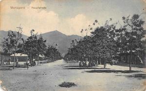German East Africa Tanzania Morogoro - Hauptstrasse, Postcard