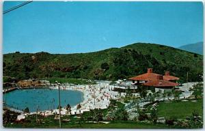 San Dimas, California Postcard Frank G. Bonelli Regional County Park Pool View