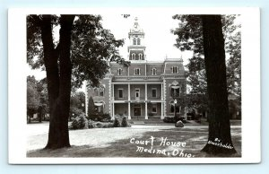 Postcard OH Medina Court House RPPC Real Photo by Householder I11