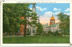 USA, Campus, University of Notre-Dame, near South Bend, Indiana, 1938 used
