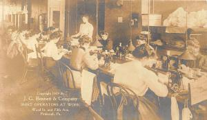 Pittsburgh PA Women Shirt Operators at Work in 1909 RPPC Real Photo Postcard
