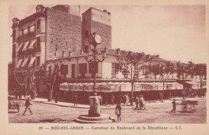 SIDI-BEL-ABBES , Algeria , 1910s ; Carrefour du Boulevard de la Republique