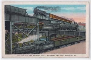 2 over 1 Railroad Fare, 16th & Dock, Richmond VA