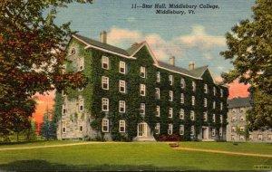 Virginia Middlebury Star Hall Middlebury College 1954 Curteich
