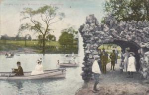 Wisconsin Milwaukee Grotto and Lake In Mitchell Park 1908
