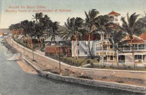 Colon Panama Superintendent House Beach Antique Postcard K79737