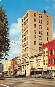 Elyria Ohio~Downtown Street Scene~Banks~Classic Cars-Station Wagon~1960s Pc