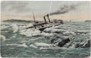 Canada Montreal - Shooting the Lachine Rapids.  1911
