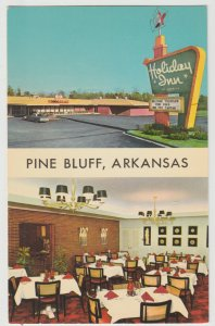 Holiday Inn Pine Bluff AK Arkansas Postcard 1965 restaurant