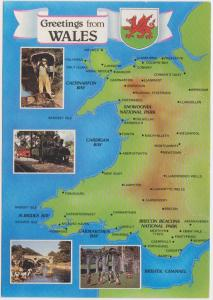 MAP OF WALES UK