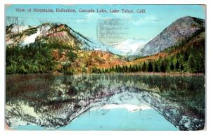 1912 Cascade Lake, Lake Tahoe, CA Postcard PPIE Cancellation *5F5