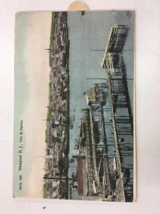 Newport Rhode Island City Harbor Pull Out Scene Antique Postcard K92216