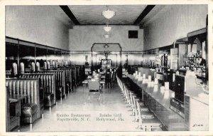 Hollywood Florida Rainbo Grill Interior Vintage Postcard AA10581