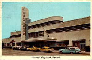 Ohio Cleveland Greyhound Bus Terminal 1964