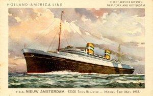 Holland-America Line - TSS Nieuw Amsterdam