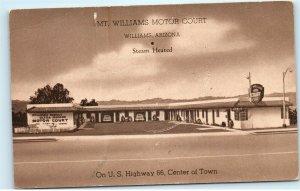 Williams Arizona AZ Mt. Williams Motor Court Route 66 Vintage Postcard E47