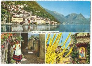 Switzerland, Saluti da Gandria, unused Postcard