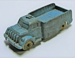 Vintage Auburn Rubber Co. Blue Cargo Truck No. 508