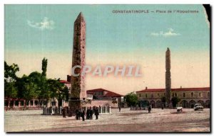 Postcard Old Constantinople the Hippodrome Square