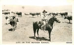 1940s Western Cowboy Life Nevada Range RPPC Real photo postcard 10951