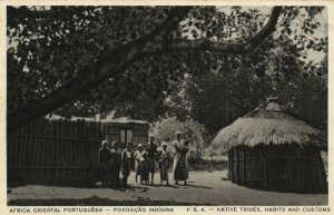 PC CPA MOZAMBIQUE, NATIVE TRIBES, HABITS AND CUSTOMS, Vintage Postcard (b24880)