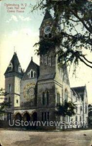 Town Hall & Opera House Ogdensburg NY 1909