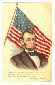 President Lincoln & Flag , PU-1911