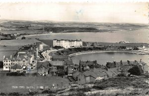 Isle of Man The Two Bays Port St Mary Panorama Postcard
