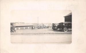 C1/ Camp Dodge Iowa Ia Real Photo RPPC Postcard c1918 Autos Soldiers Military