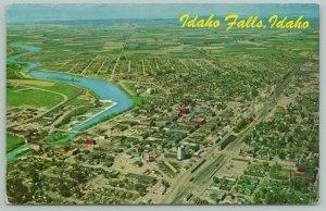 Idaho Falls~Snake River Birdseye~1950s PC