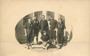 West Point Nebraska~Boys Basketball Team Picture~1907 Postcard RPPC
