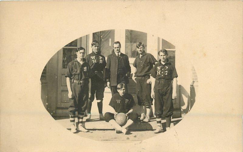 West Point Nebraska~Boys Basketball Team Picture~1907 Postcard RPPC